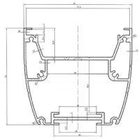 Алюминиевый профиль анодированный AL-078024